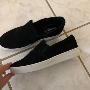 Michael kors black suede slipon